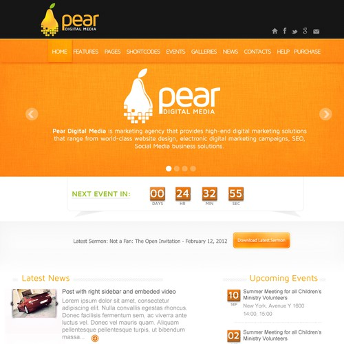 Create the next website design for Pear Digital Media