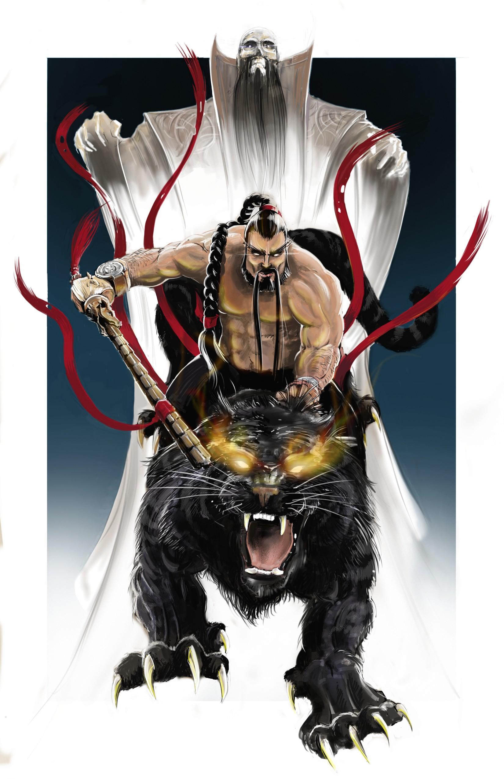 "Poster design: ""Black Tiger Zhang"""
