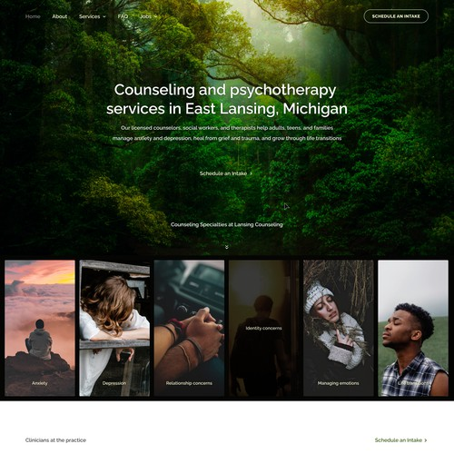 A landing page for mental health