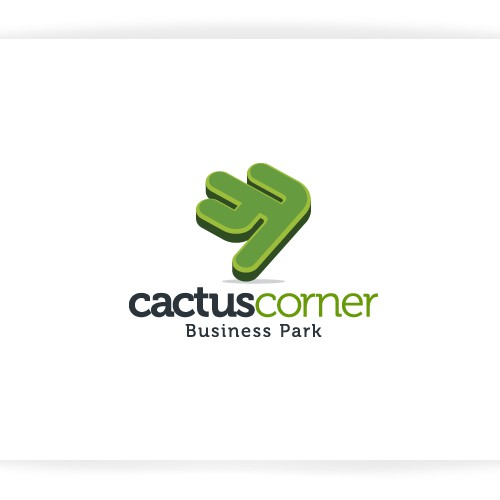 Create the next logo and business card for Cactus Corner Business Park