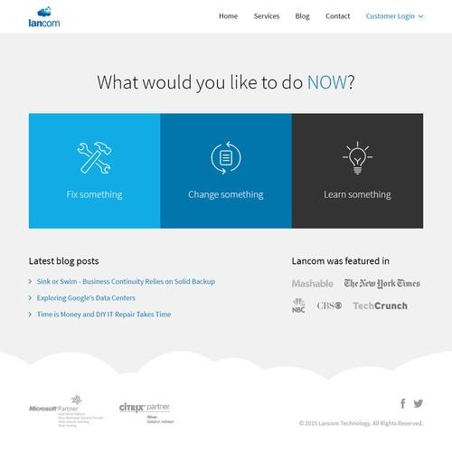 Website design for Lancom