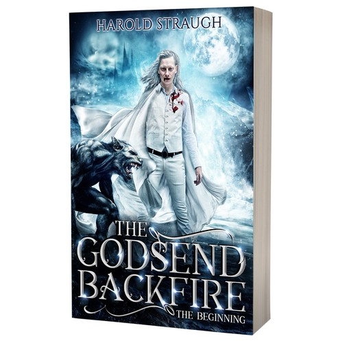 Book cover design - The Godsend Backfire, The Beginning by author Harold Straugh
