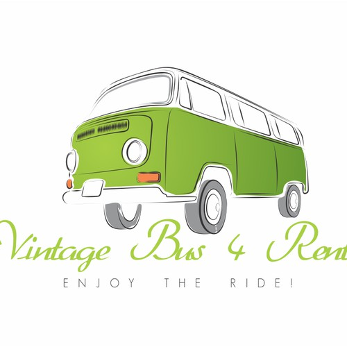 Create an awesome logo for our Vintage Bus rental company on Ibiza!