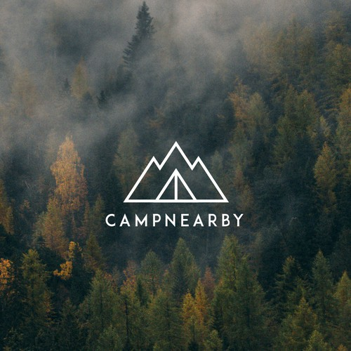 Minimal logo for a Camping Website