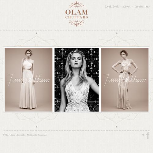 High end wedding vendor needs website design