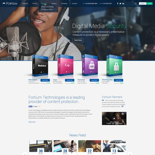 Create an inspiring clean modern website for a software technology company