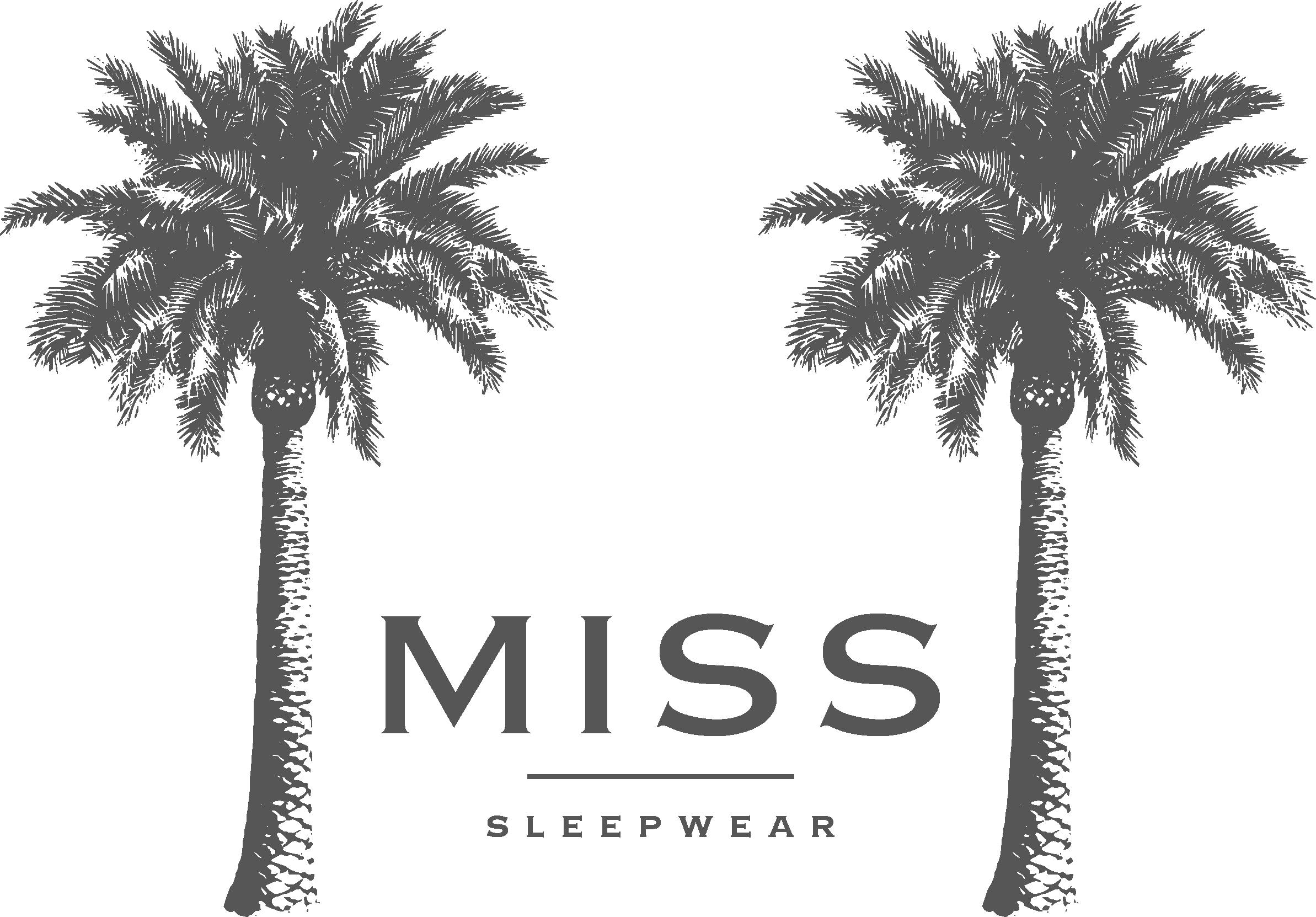 Create a logo for Missy's sleepwear - think palm trees!