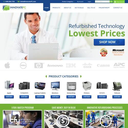 Homepage Revision for InnovatePC.com