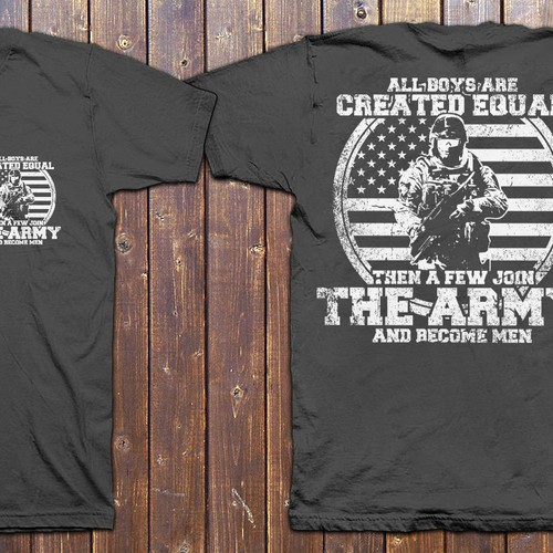 Create T-shirt design for Army shirt