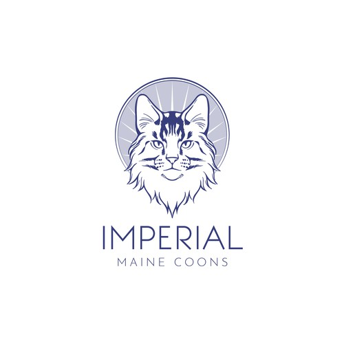 Pedigree maine coon cat logo