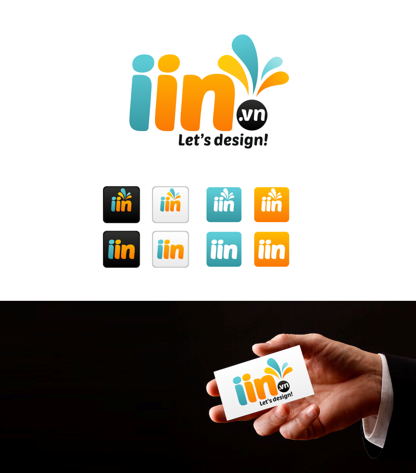 "Create a logo for printing website ""iin"""