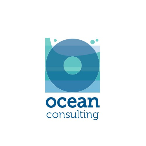 Ocean themed logo for a business that has nothing to do with the sea