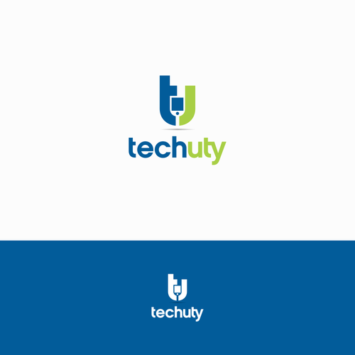Create a logo for a technology and textbook reseller aimed at college students