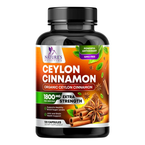 Ceylon Cinnamon Supplement Design