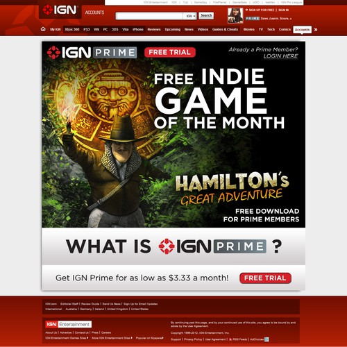 IGN Prime Splash Screen