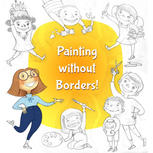 """Illustration to promote """"Painting Without Borders"""" initiative"""