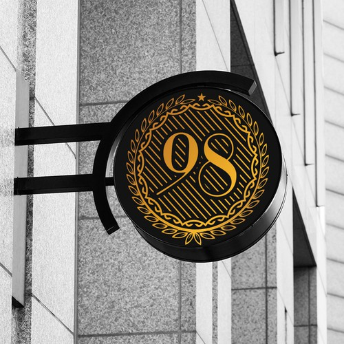 98 Leader logo design