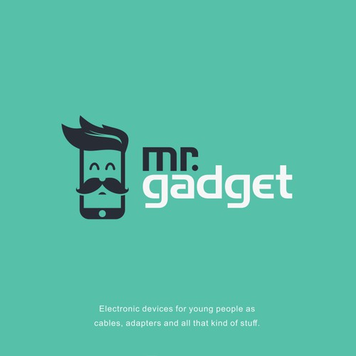 Design a hipster logo for electronic accesories for Mr. Gadget