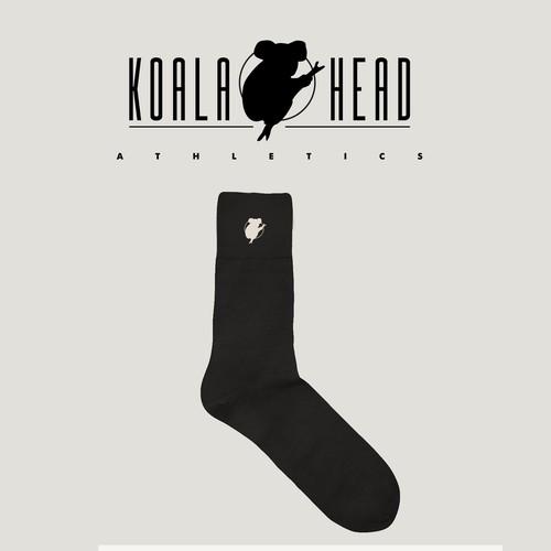 Nice sock logo concept for Koala Head