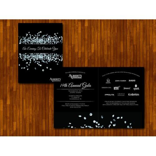 card or invitation for Albert's Diamond Jewelers