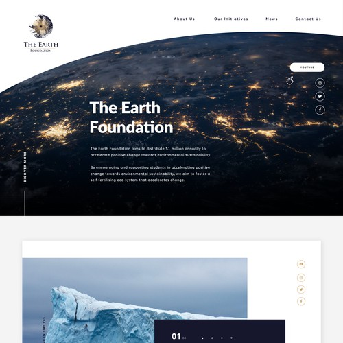 Website for The Earth Foundation