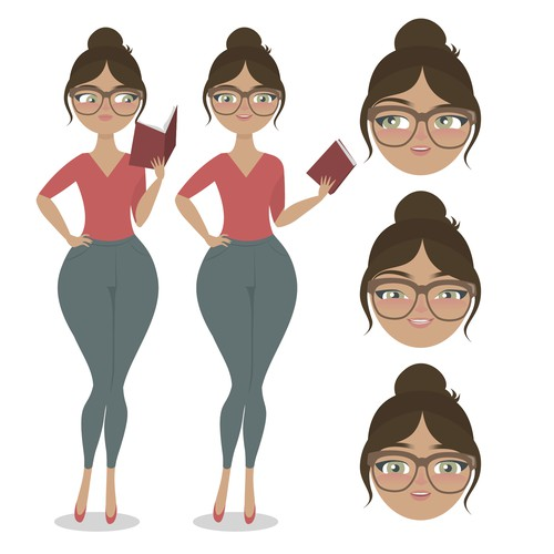 Character for book website
