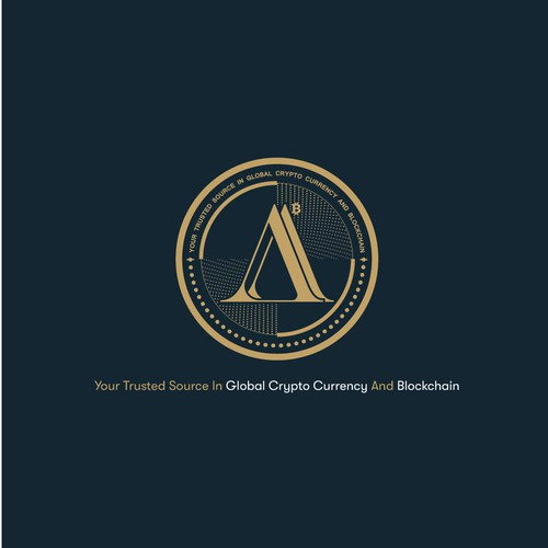 """AA"" Crypto Logo Design."