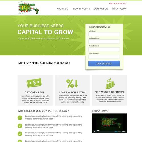 Create the next website design for Merchant Cash Advance Blaster