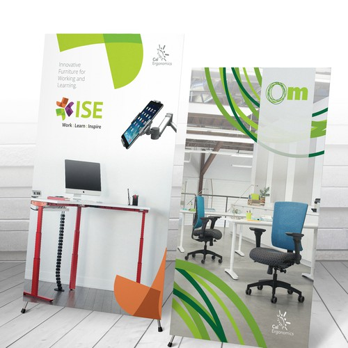 Trade show banner: Bright & clean