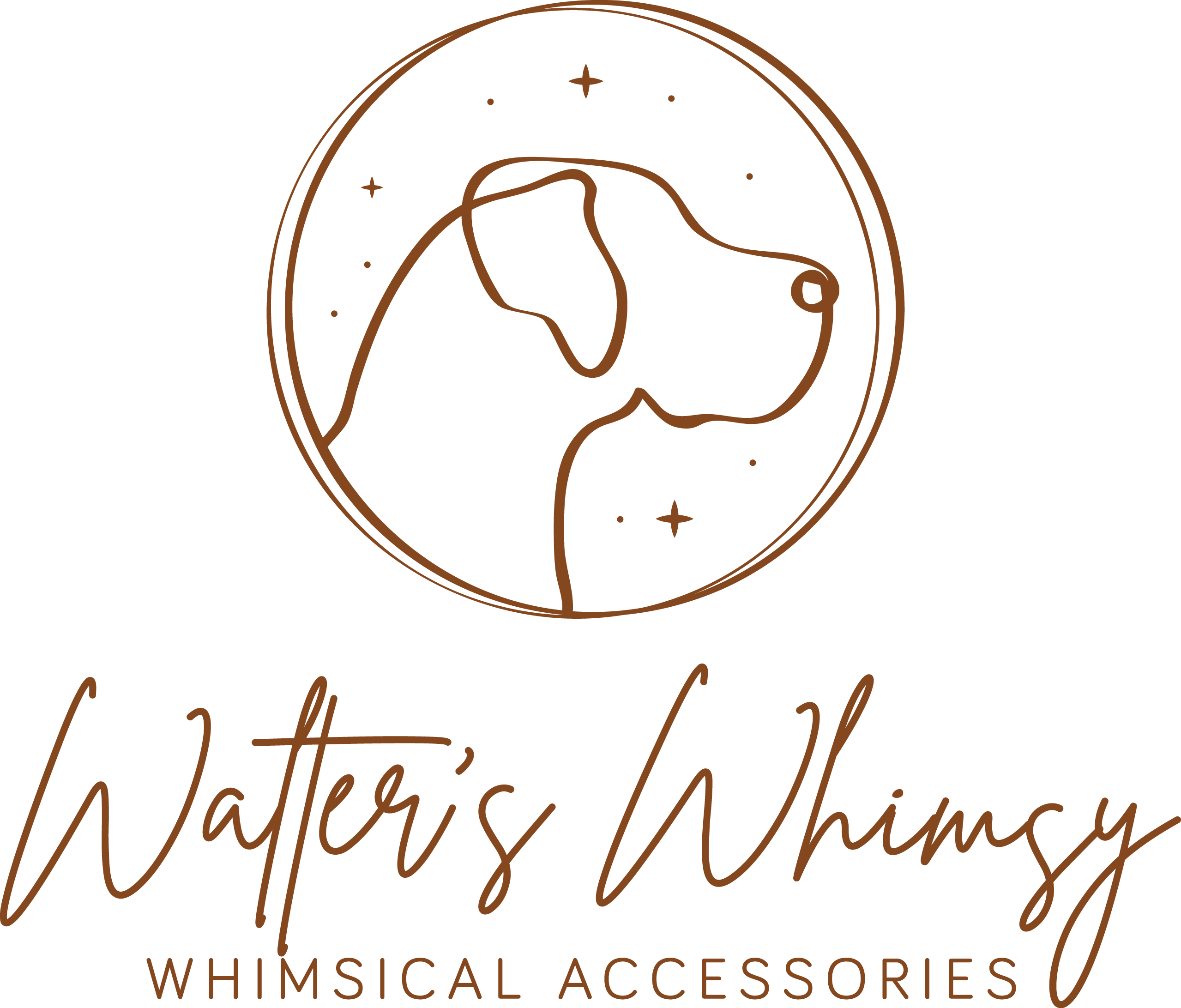 Whimsical accessories and love of dogs! Looking for a creative logo that blends both.