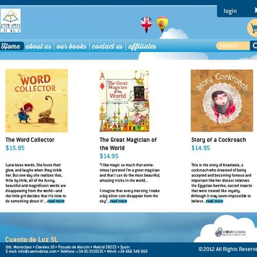Website Design for E-commerce Company - Childrens books publisher
