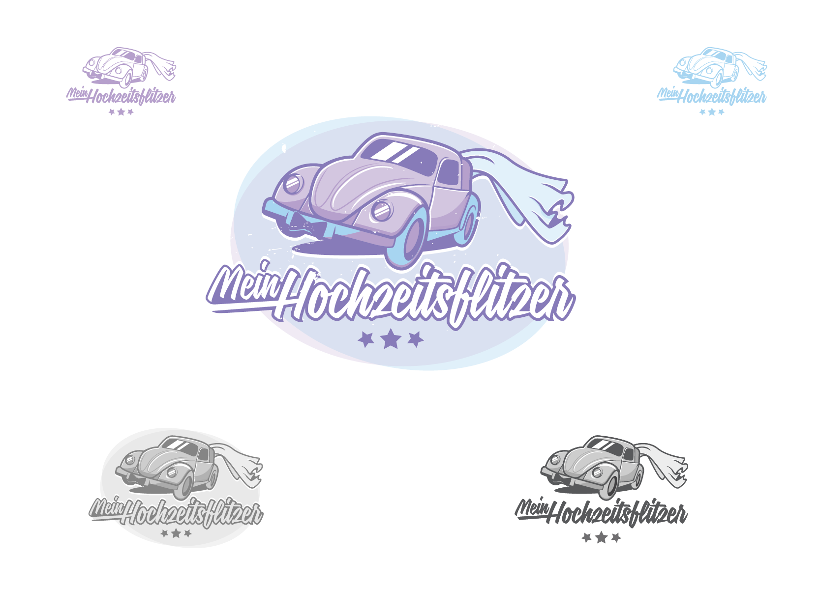 Create a stunning logo for our classic car wedding rental company