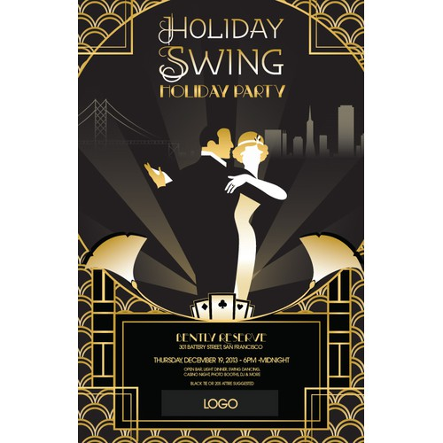 Project Gatsby Holiday Party needs a new card or invitation