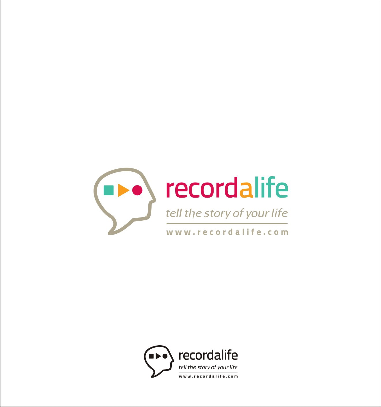 Design a friendly logo for Recordalife - we capture people's life stories