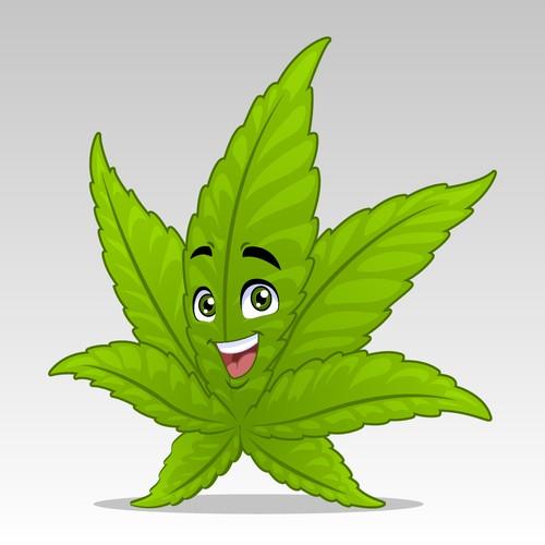 Mascot for a Hemp Leaf Character