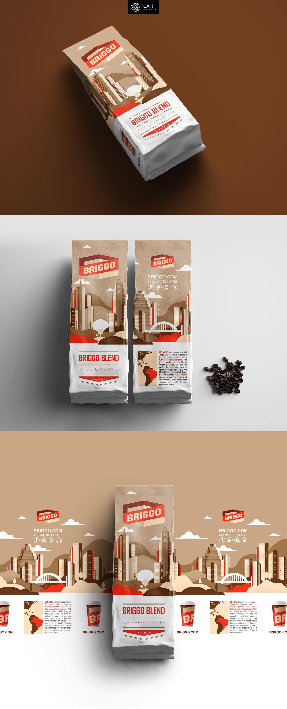 Briggo Coffee packaging design