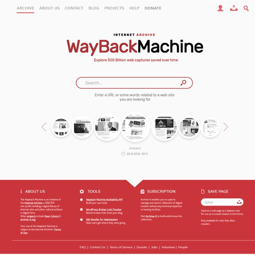 Wayback Machine Redesign