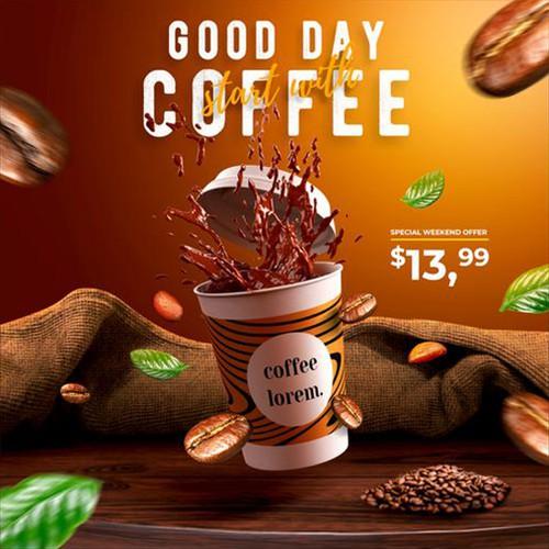 Social Media Ad for Coffee Lorem