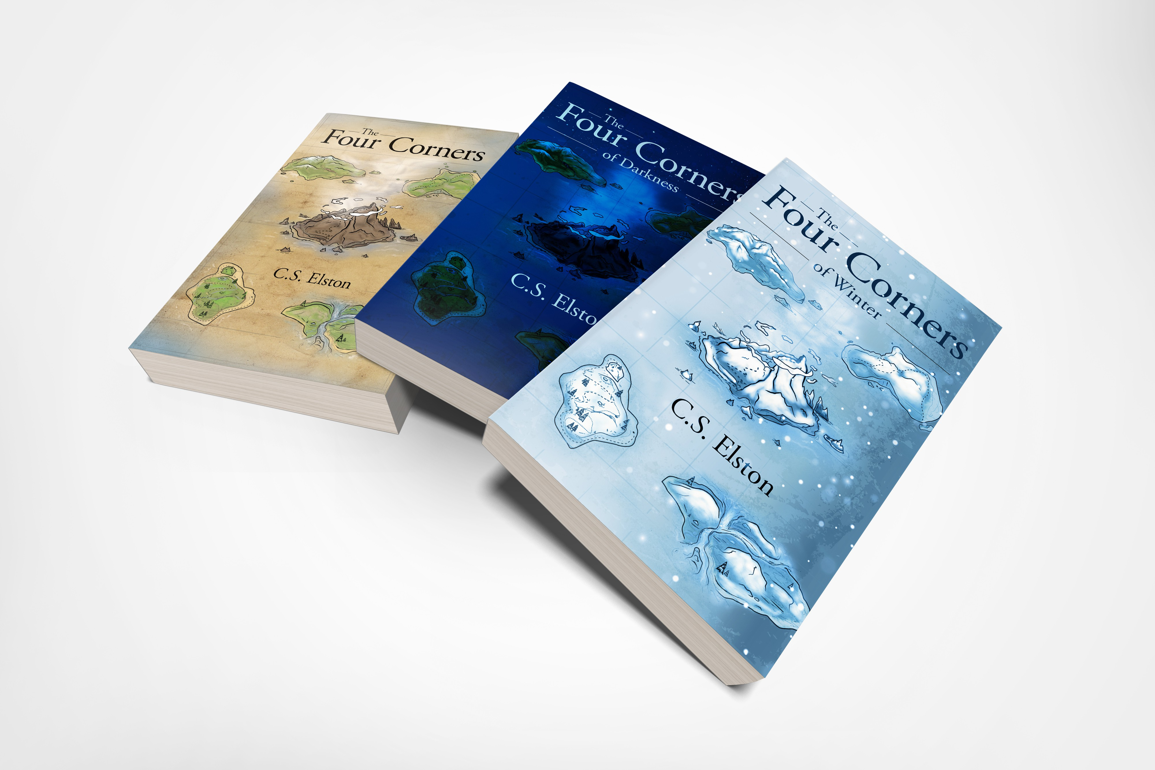 """""""The Four Corners of Darkness"""" & """"The Four Corners of Winter"""" Book Cover Designs"""