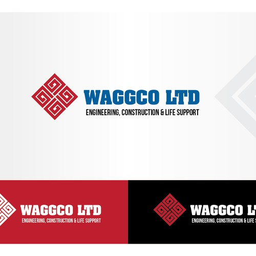 create an eye catching brand for a 10 year running construction business in Iraq