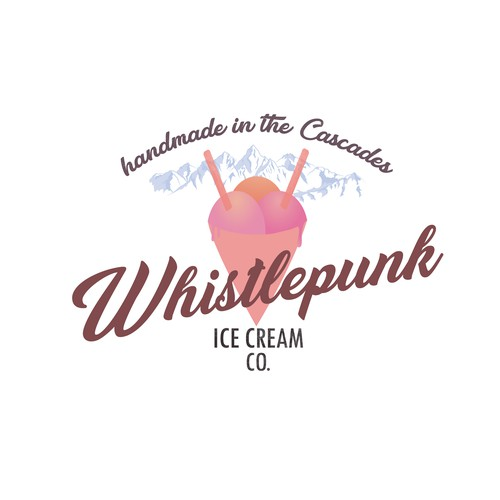 Retro logo for a ice cream parlour