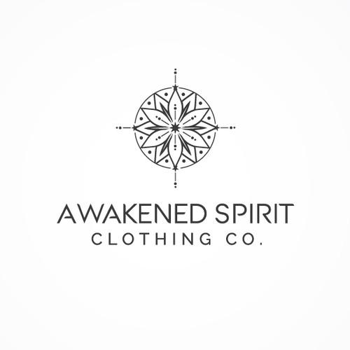 Logo design for modern spiritial clothing company