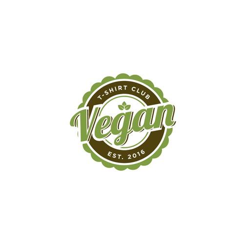 Design an inspiring logo for Vegan T-Shirt Club