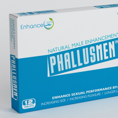 Packaging for all-natural male enhancement pill, Enhance SD