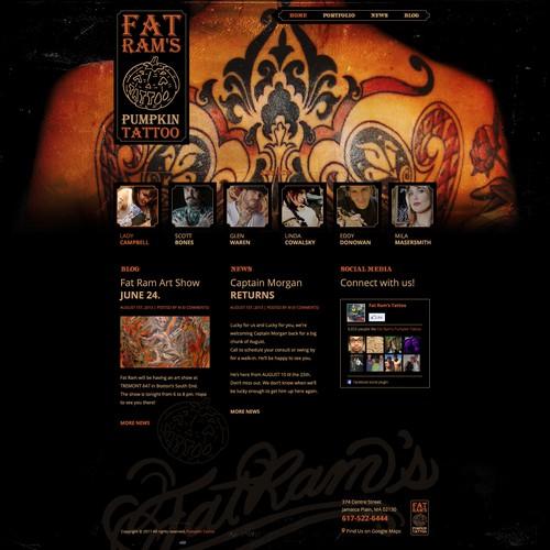 Web design wanted for Fat Ram's Pumpkin Tattoo