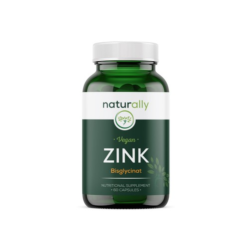 Product label for bottle of nutritional supplements