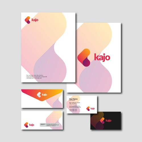 Kajo stationery design