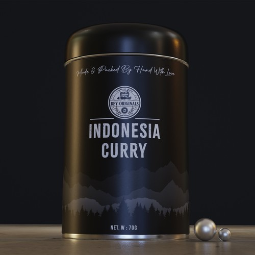 3D modeling & label design for spices bottle