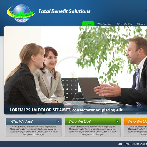 Total Benefit Solutions company Web Design