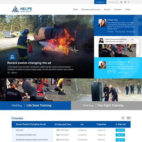 HELPE Website Design